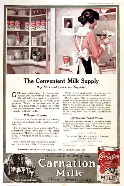 Γάλα Carnation - 1919