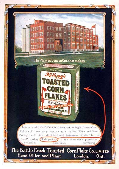 1919 - Kellogg's Corn Flakes