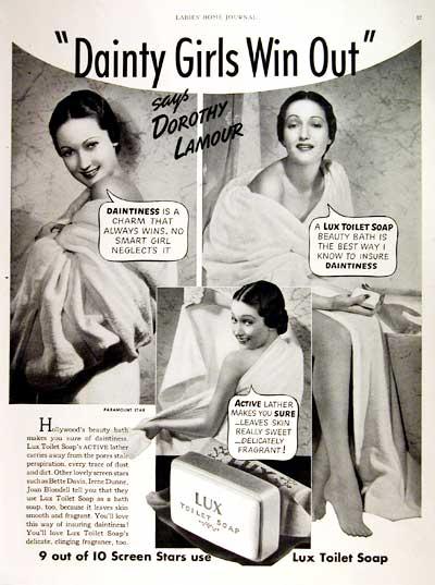 Σαπούνι Lux - Dorothy Lamour -1938