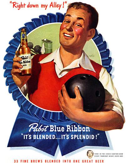 """1958 - Μπύρα """"Blue Ribbon"""""""