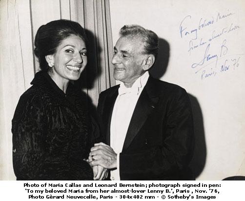 Μαρία Κάλλας - Leonard Bernstein - Νοέμβριος 1976