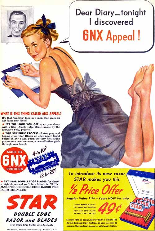 Ξυραφάκια  STAR  -  1947