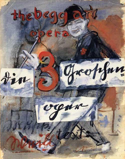 Η Όπερα της Πεντάρας - Γνήσια αφίσα - 1928